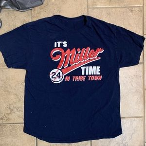 Other - Cleveland Indians it's miller time t shirt